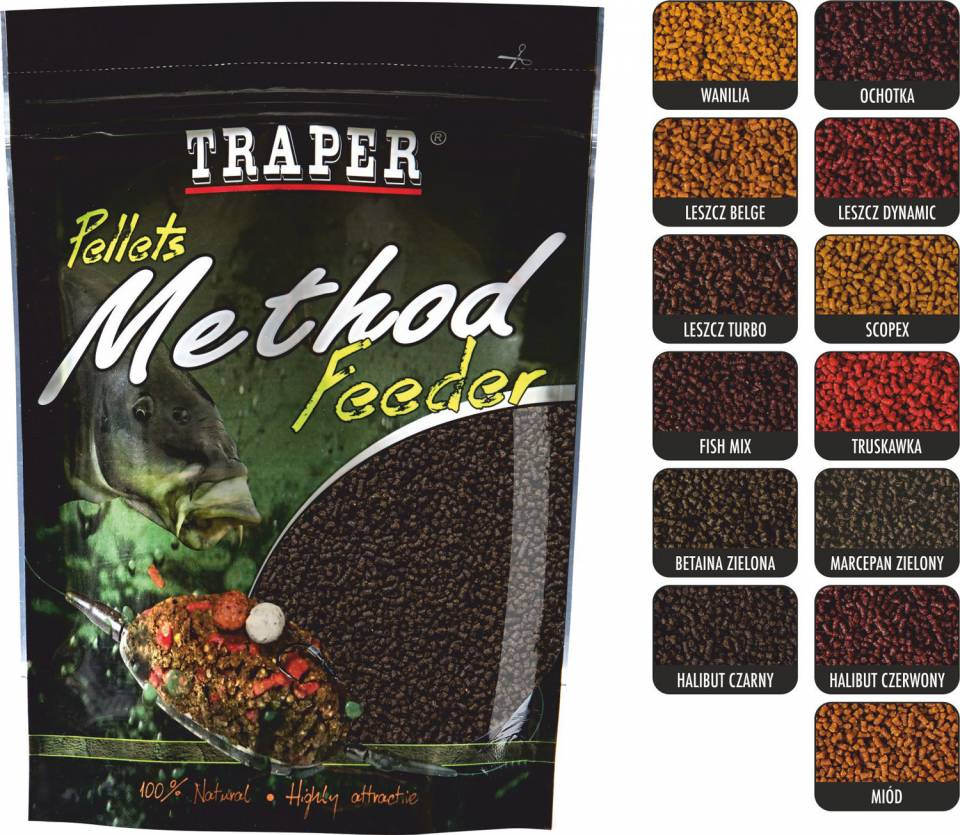 Пеллетс Traper Method Feeder Pellet Halibut Red 4 мм 0,5 кг